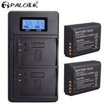 Для Canon 2 шт. LP-E10 батареи+ ЖК-дисплей USB двойное зарядное устройство Замена LP E10 LPE10 EOS 1100D 1200D 4000D Kiss X50 X70