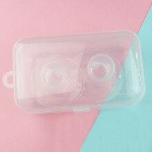 2 шт Защитные круглые тонкие прозрачные силиконовые мягкие защитные накладки для грудного вскармливания