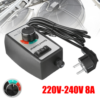 ac220v 50hz motor speed controller 100 x 60 x 110 mm adjustable for power tools 220-240V 8A Router Speed Control Electric Motor Rheostat Variable Speed Motor Controller Lighting Fans Power Tools Accessories