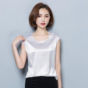 Women Blouses Casual OL Silk Blouse Summer Loose Basic Satin Shirt Work Wear Blusas Feminina Tops Shirts Plus Size XXXL/4XL Tops 6