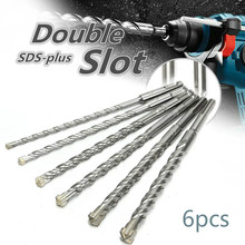 Yeni 6 adet 160/210/260mm SDS artı Crosshead e n e n e n e n e n e n e n e n e n e spiral çekiç matkap ucu seti 6/8/10/12/14/16mm yuvarlak Shank büküm elektrikli çekiç