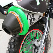 Universal Motorcycle Oval Exhaust Protector Can Cover for KTM Dirt Bike Accessories Silicone Guard Anti-hot 350 400 450 500
