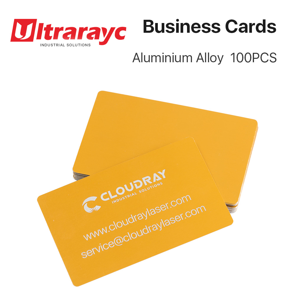 50 Pcs  Business Card Blanks Laser Engraving Sheet Metal Aluminum Alloy