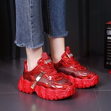 Sneakers Women Spring 2020 Fashion Sequined Cloth Bling Breathable Round Toe Leisure Chunky Women Shoes Tenis Feminino
