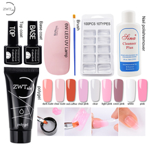 35g Polygel Nail Acrylic Poly Gel Set Pink White Clear Crystal UV LED Builder Gel Tips Slip Solution Quick Extension Gel 60g clear white nail polygel acryl gel uv led builder acrylic gel for nail art tip quick extension crystal poly gel acrylgel