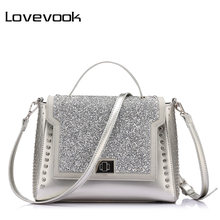 LOVEVOOK brand fashion bags handbags women famous brands diamonds shoulder bags diamond handbags high quality messenger bags(China)