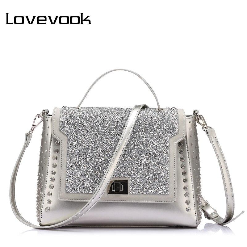 LOVEVOOK Brand Fashion Bags Handbags Women Famous Brands Diamonds Shoulder Bags Diamond Handbags High Quality Messenger Bags