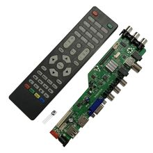 universal scaler kit 3663 TV Controller Driver Board Digital Signal DVB-C DVB-T2 DVB-T Universal LCD UPGRADE 3463A with lvds 1set dvb s2 dvb t2 dvb c digital signal atv driver lcd remote control board launcher universal dual usb media qt526c v1 1