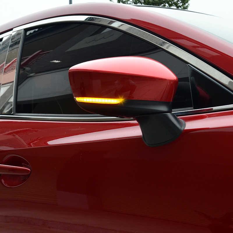 Için Mazda3 Axela Mazda6 Atenza Mazda 3 6 2017 2018 Dinamik Dönüş Sinyali Yan Kanat dikiz aynası Göstergesi Flaşör Işık