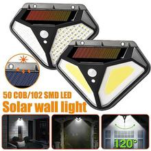 Светильник Настенный уличный на солнечной батарее 102 светодиодов