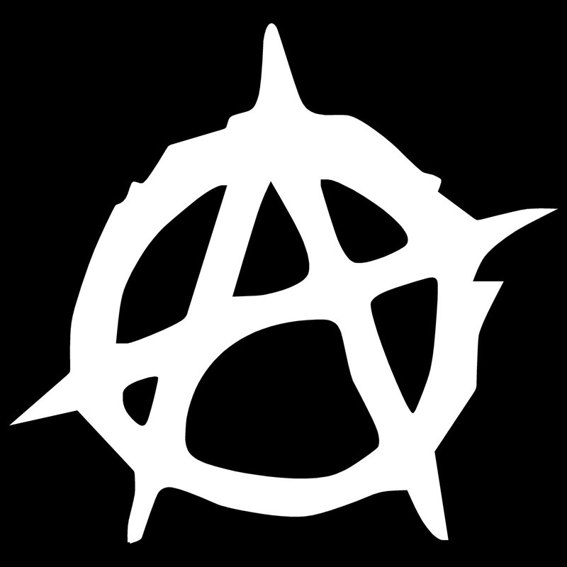 10 1cm 9 5cm Anarchy Decals Decoration Car Accessories Car Sticker Black in Car Stickers from Automobiles Motorcycles