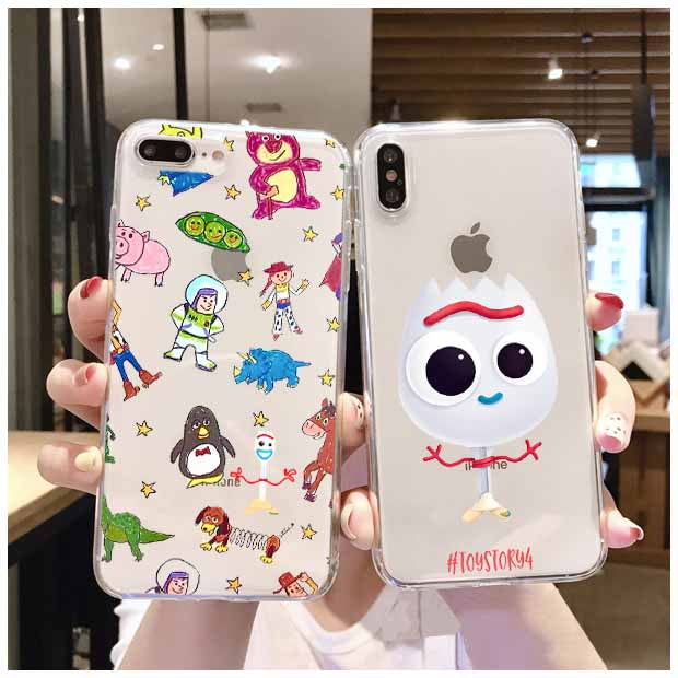Cartoon Forky Phone Case For Samsung Glaxy S6 7 8 9 Note 8 9 Edge Funny <font><b>Toy</b></font> <font><b>Story</b></font> Soft Silicone Back Cover Letter Fundas <font><b>Coque</b></font> image