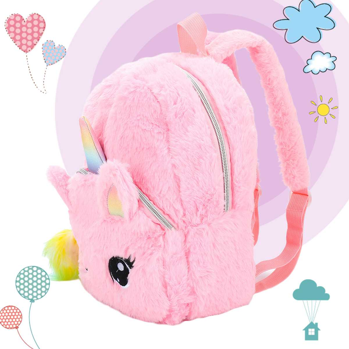Girls Bag 30cm x 30cm Teenager Pink Tote Handbag Cute Scooter Lunch School Gift