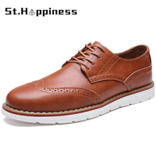 Oxford Shoes Brogue Non-Slip Business Men's High-Quality Luxury Brand Outdoor
