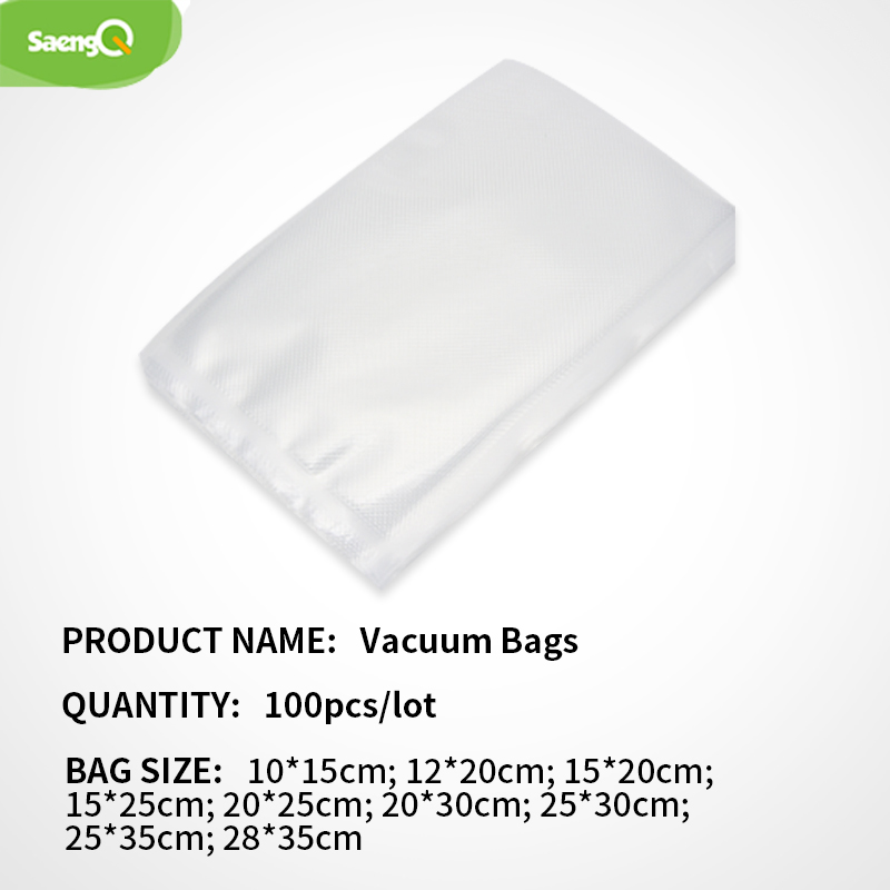 SaengQ 100pcs/lot Food Vacuum Sealer Bag Sous Vide Food Saver Storage Vacuum Packaging Bags Kitchen Accessories BPA-Free