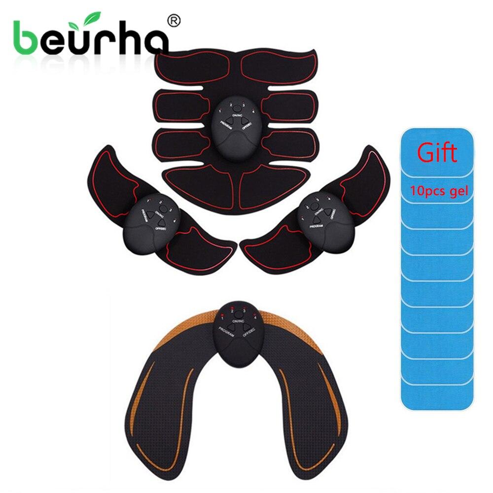 Электрический стимулятор мышц, массажер для похудения, тренировки живота, ягодицы, тонер-тренажер, EMS, тренажер для бедер, фитнес-устройство ...