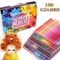 120 цветных карандашей-120 уникальных цветных карандашей и предварительно заточенных мелков для раскрасок, идеальный подарок для художников