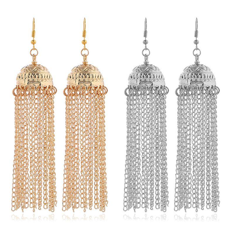 Moon Crystal Rhinestone Beads Dangle Hairpin Hair Clip Women Bridal Jewe XJ