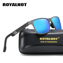 RoyalHot Polarized Sunglasses Men Women Aluminum Magnesium Frame Sun Glasses Driving Shades Oculos masculino Male p10030