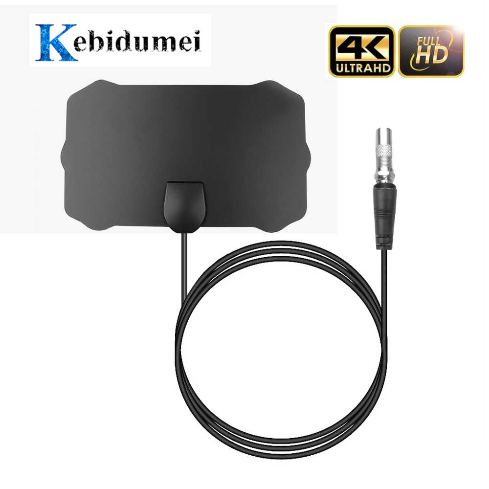 Kebidumei 200M Rango TV señal Digital antena Cable HD 1080P 4K TV Antena Digital interior HDTV con amplificador de señal