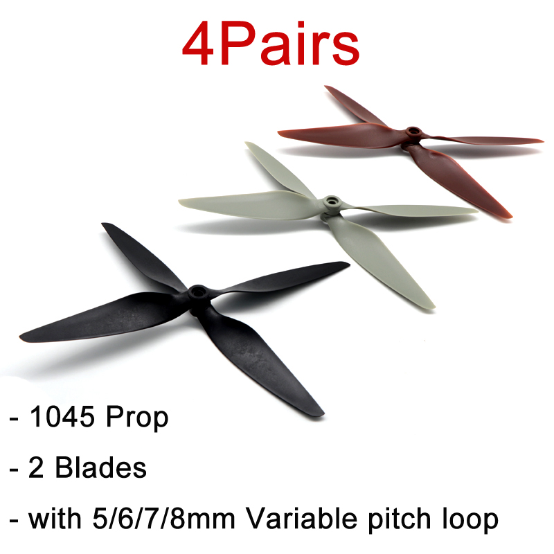 4Pairs 1045 Nylon+Carbon Fiber Propelelr Multi-rotor Left Right Small Vibration Paddle 6mm Hole w Ring Parts for RC Quadcopter image