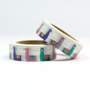 Image 2 - Top sales Fresh Floral, cute animal design Washi Tape Strawberry Sticky Adhesive Tape Various Patterns Masking Tape