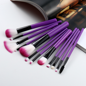 FLD 12PCS/set makeup foundation brush Powder brush eyeshadow brush Lip brush contour makeup brush Professional makeup brush set beili complete professional 25 pieces foundation powder concealer eyes hadow makeup brush set