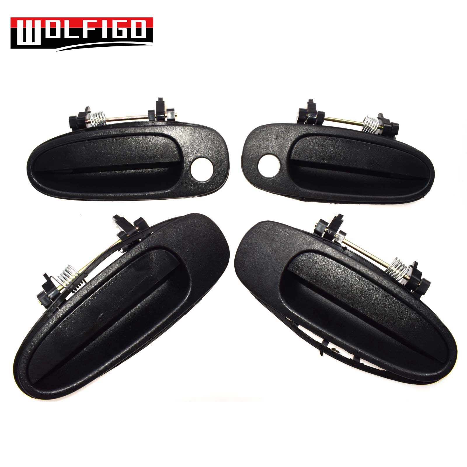 WOLFIGO New Black For TOYOTA COROLLA 1993 1997 Outside Outer Door Handle Front Rear Left Right 69220 12160  69210 12160 Exterior Door Handles     - title=