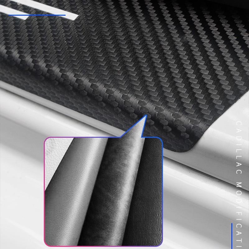 4 шт защитные наклейки из углеродного волокна на пороги автомобиля