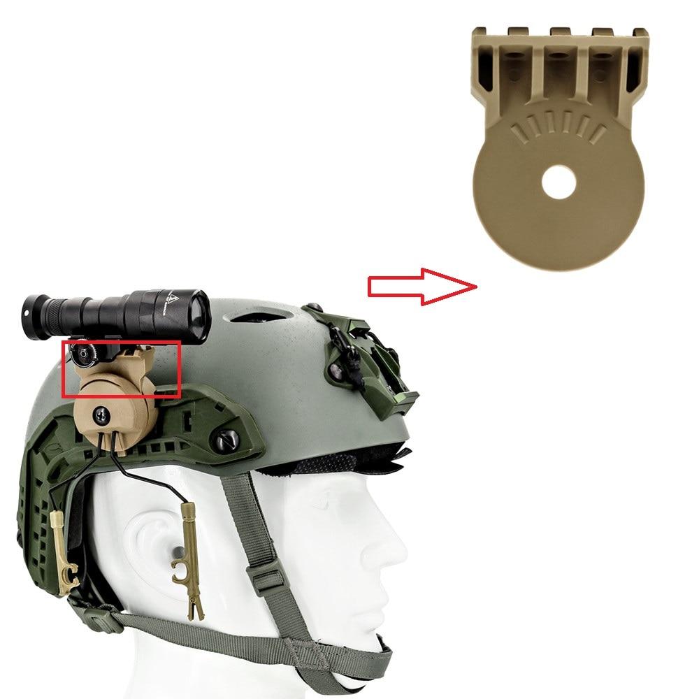 Tactical Headset Helmet Peltor Comtac I Ii Iii Bracket Curved Rail Adapter For Mounting Tactical Lamp Helmet Bracket Accessories