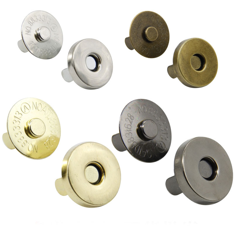 Практичные мешки, 50 шт./лот, магнитные кнопки для рукоделия, одежды, магнитные кнопки, металлические кнопки, застежки, аксессуары «сделай сам...