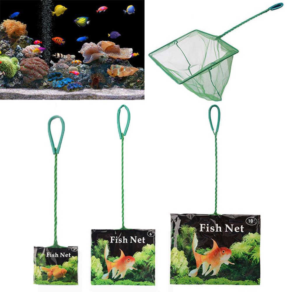 Draagbare Aquarium Fish Netten 1Pc Nuttig Draagbare Lange Handvat Vierkante Aquarium Visnet Schepnet Vis Drop Shipping