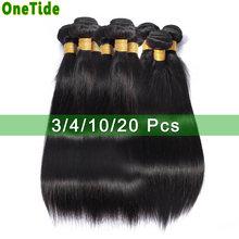 Onetide оптом кости прямые волосы пряди предложения перуанские
