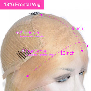 Image 5 - Rosabeauty HD Transparen 613 Ombre Blonde 13x6 Lace Front Human Hair Wigs Brazilian Short Bob Straight Remy Frontal Wig