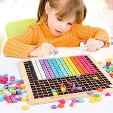 Дети деревянные пиксели блоки головоломка игрушка Монтессори