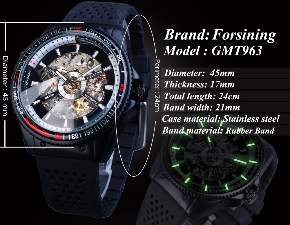 Hdcc0cb6b3ea44a40964018f72f72cc06t Forsining 2016 Rotating Bezel Sport Design Silicone Band Men Watches Top Brand Luxury Automatic Black Fashion Casual Watch Clock