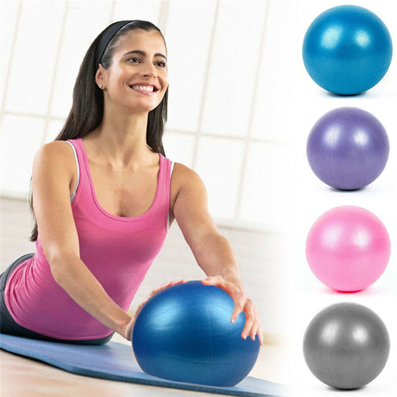 25cm Yoga Ball Anti-Pressure Explosion-Proof Gymnastic Fitness Pilates Ball Indoor Home Gym Fitness Training Yoga Balance Ball