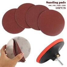 10pcs Abrasive Disc Cutting Circular Saw Blade Grinding Wheel with Bottom + Screw Abrasive Sanding Disc Tools Cutting Wood Metal