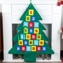 24 Days Countdown To Christmas Non-woven Tree Hanging Advent Calendars For Home Office Party Decoration Kerst Kalender