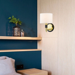 Postmodernistyczne proste ciepłe pomieszczenie lampka nocna naścienna spersonalizowana tkanina korytarz korytarz ganek kinkiet