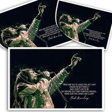 Peinture sur toile imprimée Bob Marley, affiche d'art mural pour décor de salon, sans cadre