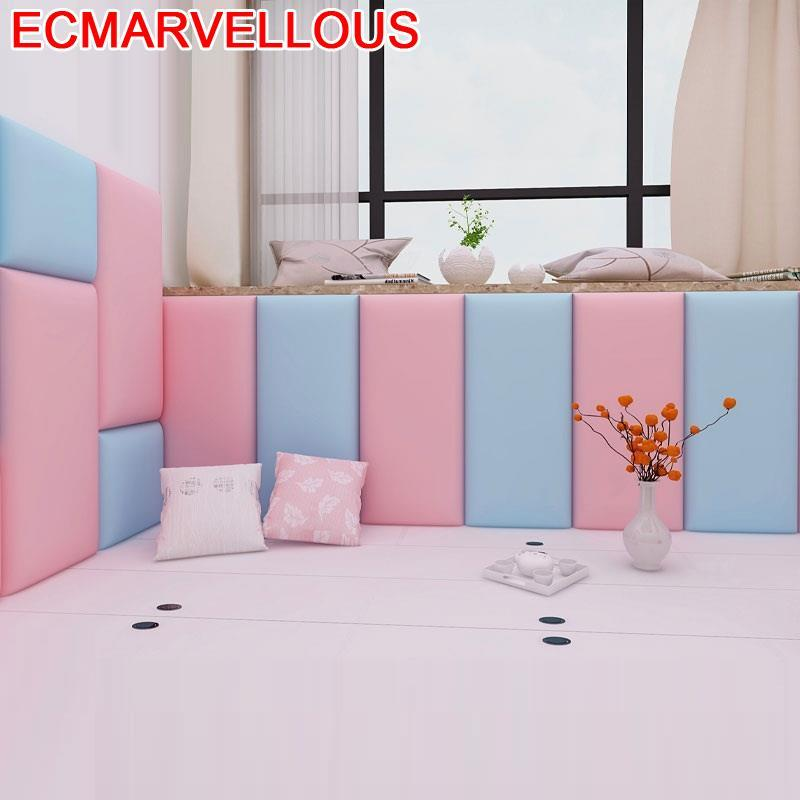 Cushion Cabezal Anti-collision Cojin Testiera Letto Coussin Child 3D Wall Sticker Bed Tete Lit Cabecero Cama De Pared Headboard