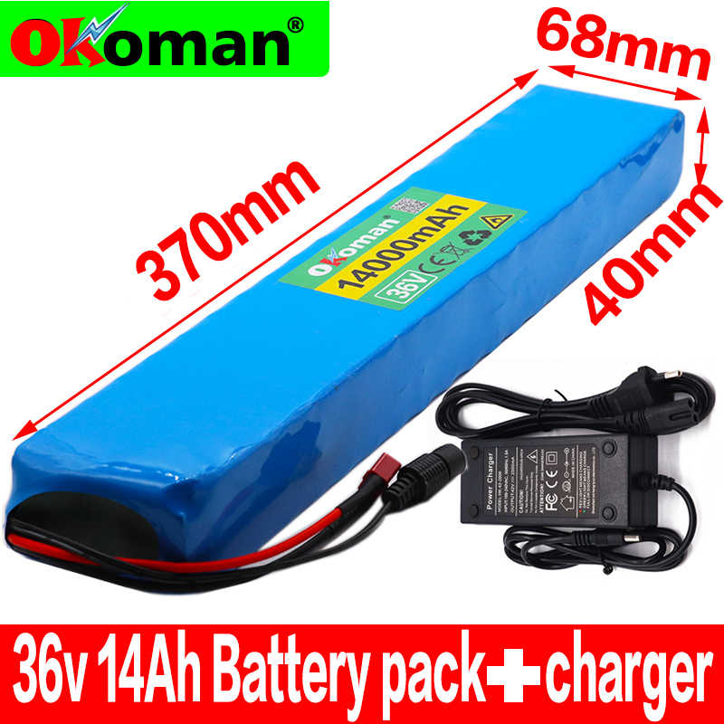 36V 10S4P 14Ah 600W High power&capacity 42V18650 lithium battery pack ebike electric car bicycle motor scooter 20A BMS+charger