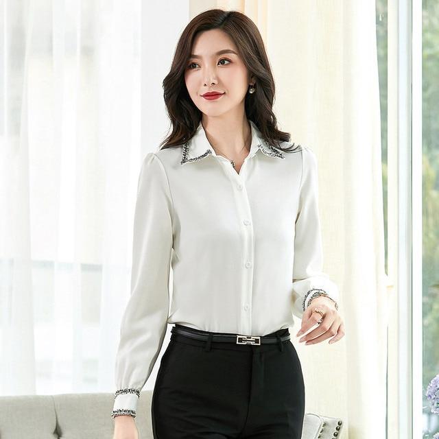 Women Blouses Woman Shirts Tops Long Sleeve Shirt Chiffon Blouse Women Plus Size 5XL FreeShipping Fashion Woman Blouses 2020 3