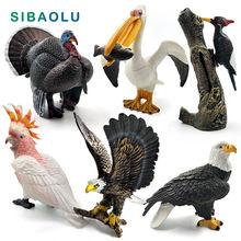 Имитация индейки птица курица ферма ПВХ Модель Животного Фигурка