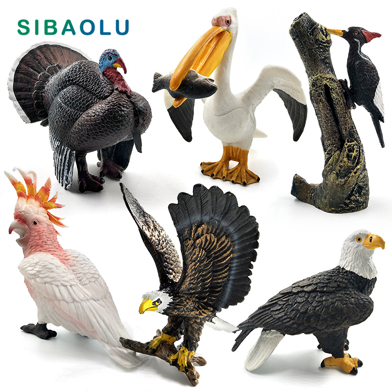 Simulation Turkey Bird Chicken Farm Pvc Animal Model Figurine Home Decor Miniature Fairy Garden Decoration Accessories Modern