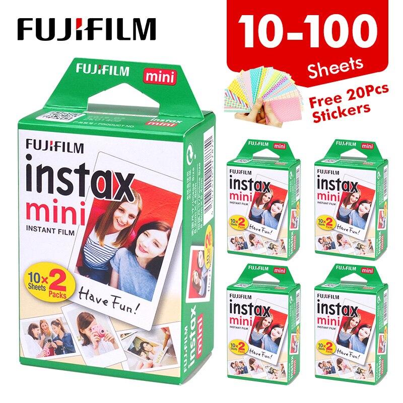 Пленка Fujifilm Instax Mini 11 White Edge 20 40 60 80 100 листов, фотобумага для Fuji instant camera 8/9/11/25/70/90/liplay/link