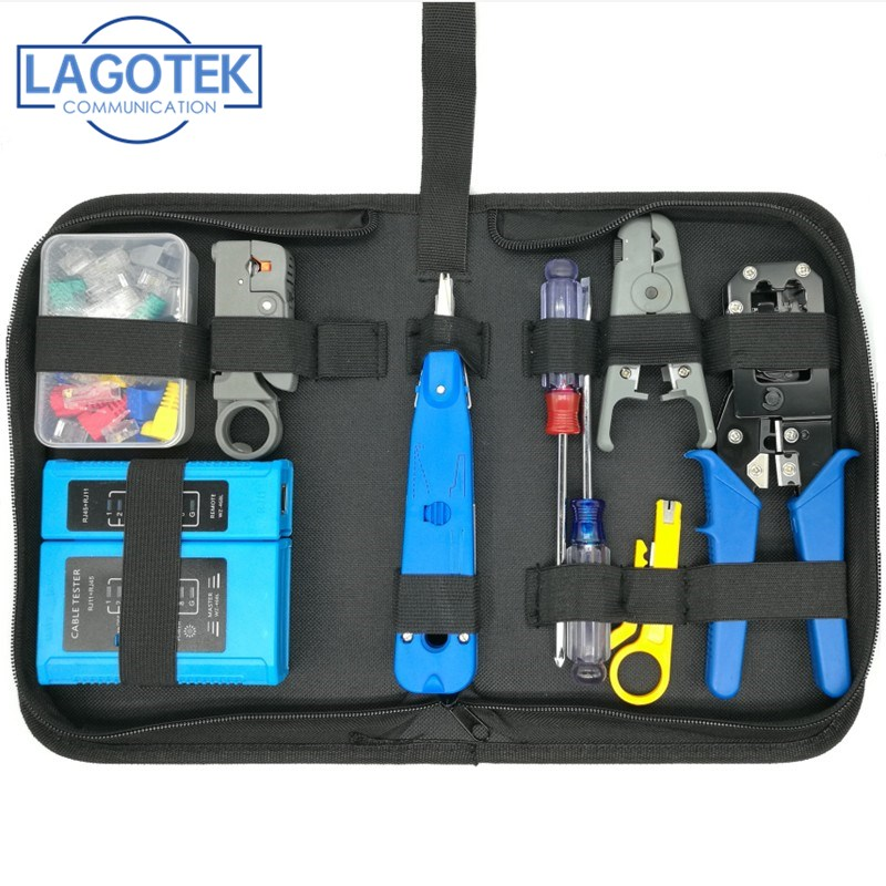 HIGH QUALITY RJ45 RJ11 CAT5e CAT6 Portable LAN Network Repair Tool Kit Utp Cable Tester AND Plier Crimp Crimper Plug Clamp PC