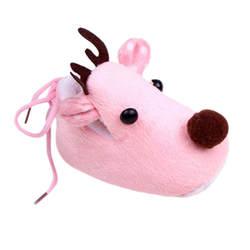 Зима прекрасный Рождественский лось олень стиль для маленьких девочек мальчиков кроватки обувь плюшевая флисовая обувь # E