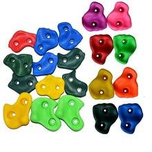 10/15 adet plastik çocuk çocuklar kaya tırmanışı ahşap duvar taşları el ayak tutar kavrama kitleri vidasız tırmanma ekipmanları